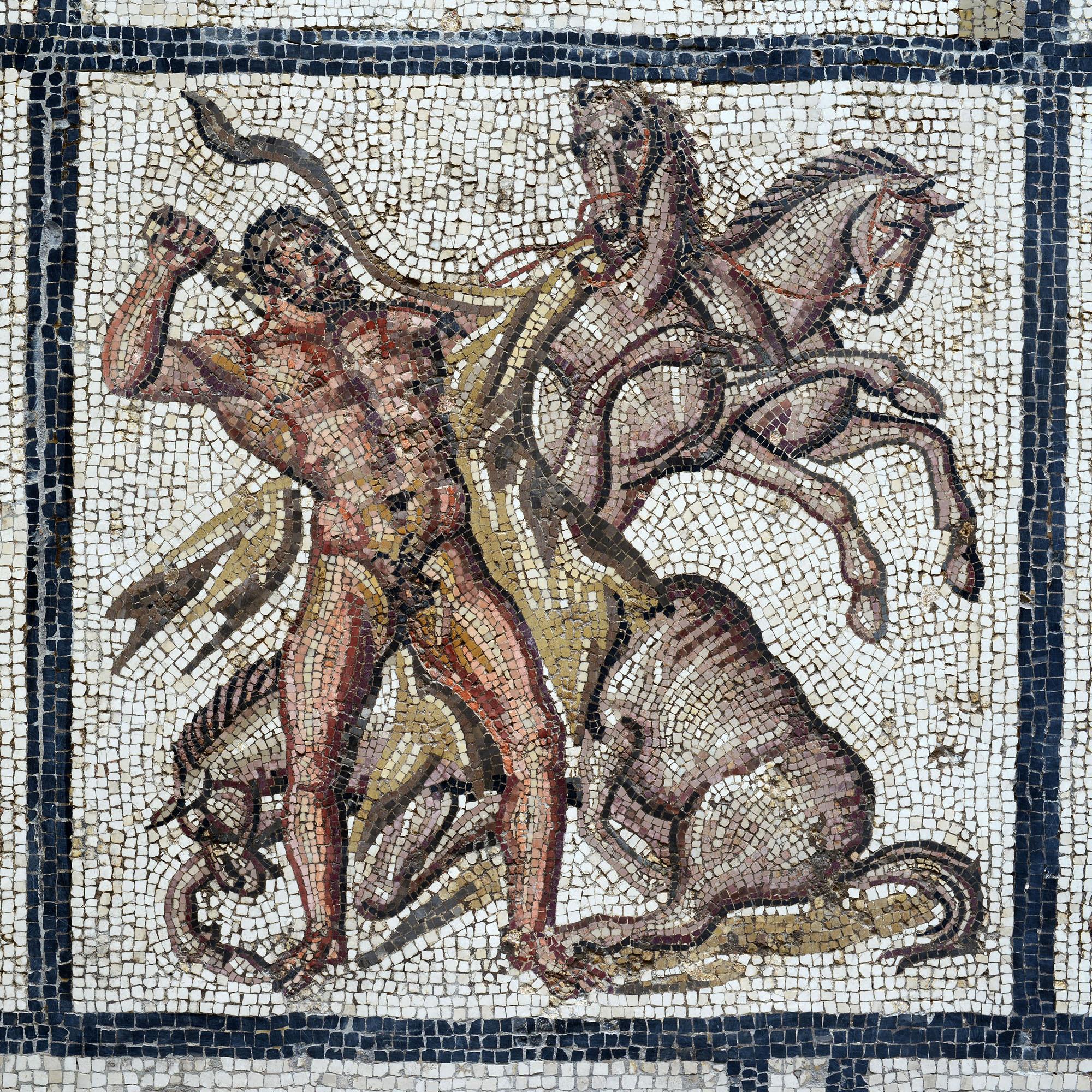 Mosaïque d'Hercule (Les cavales de Diomède) ©Paul Veysseyre.