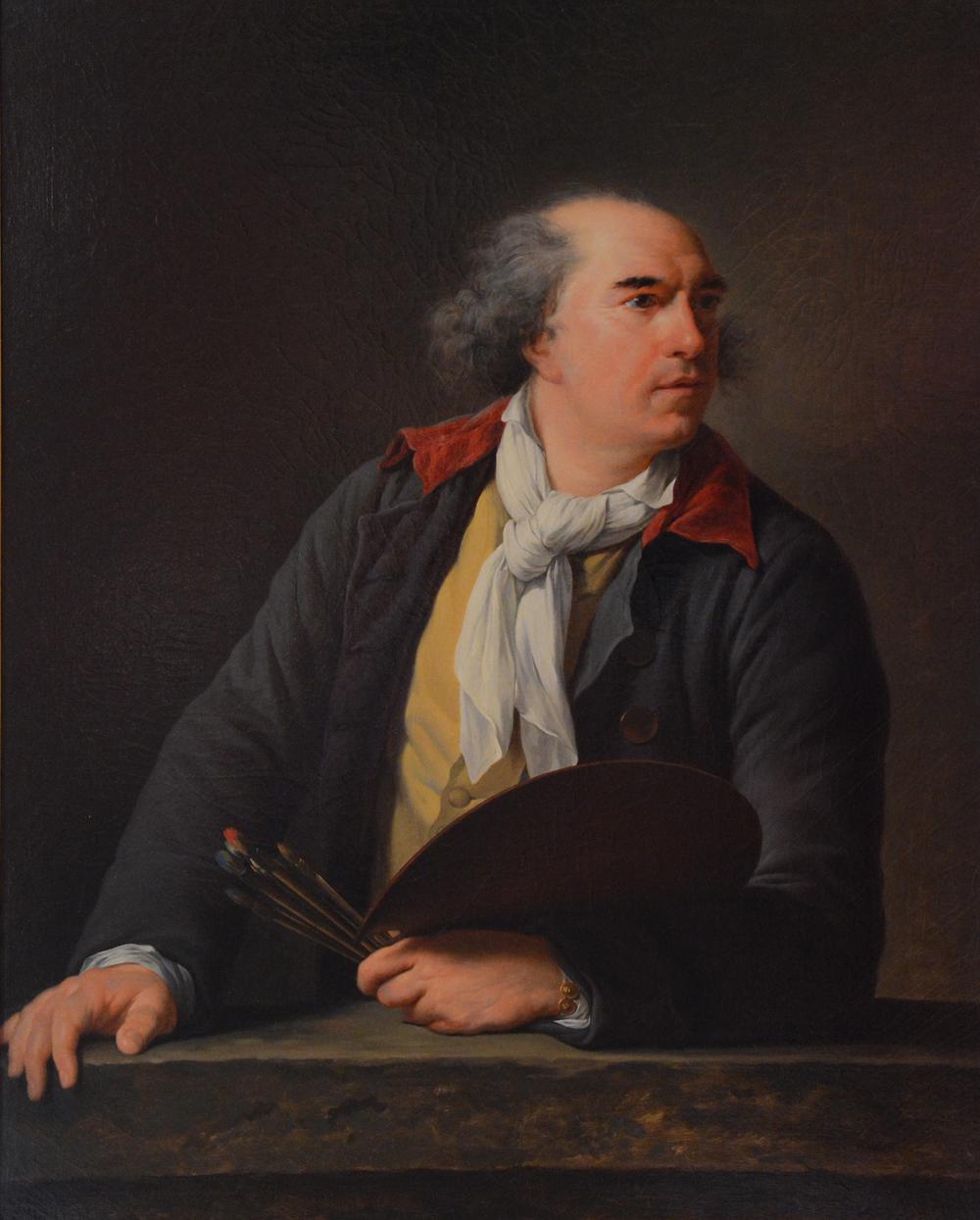 Portrait d'Hubert Robert, d'après Elisabeth Vigée-Lebrun. Ecole Nationale supérieure des Beaux-Arts.