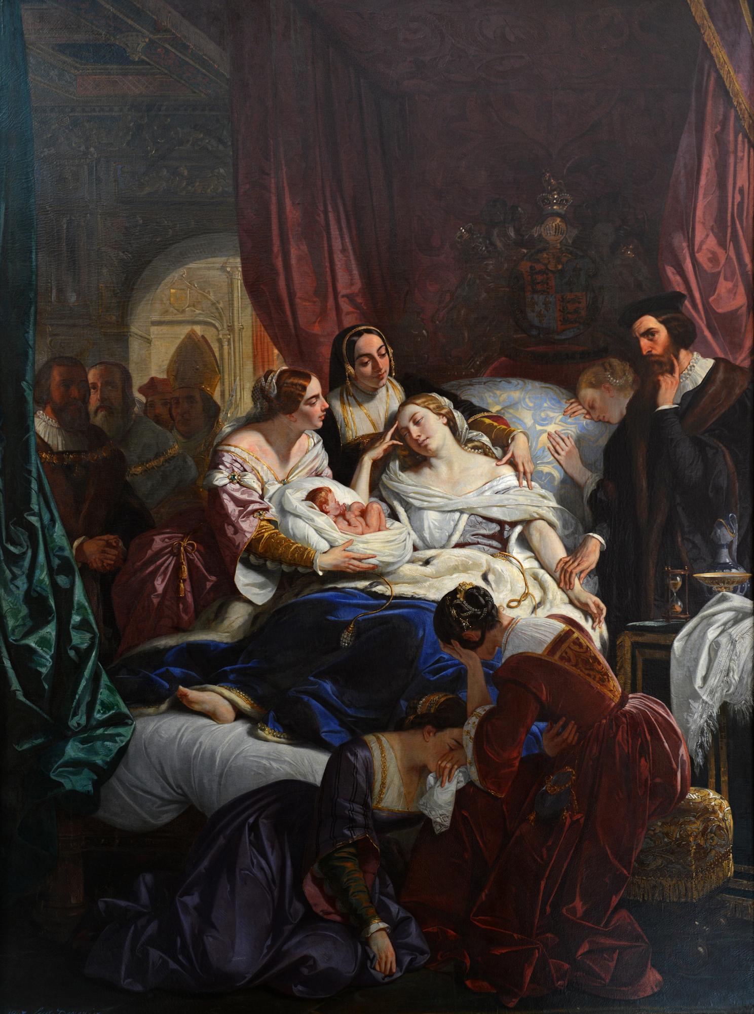 Eugène Devéria - La mort de Jane Seymour ©Musée de Valence, photo Éric Caillet