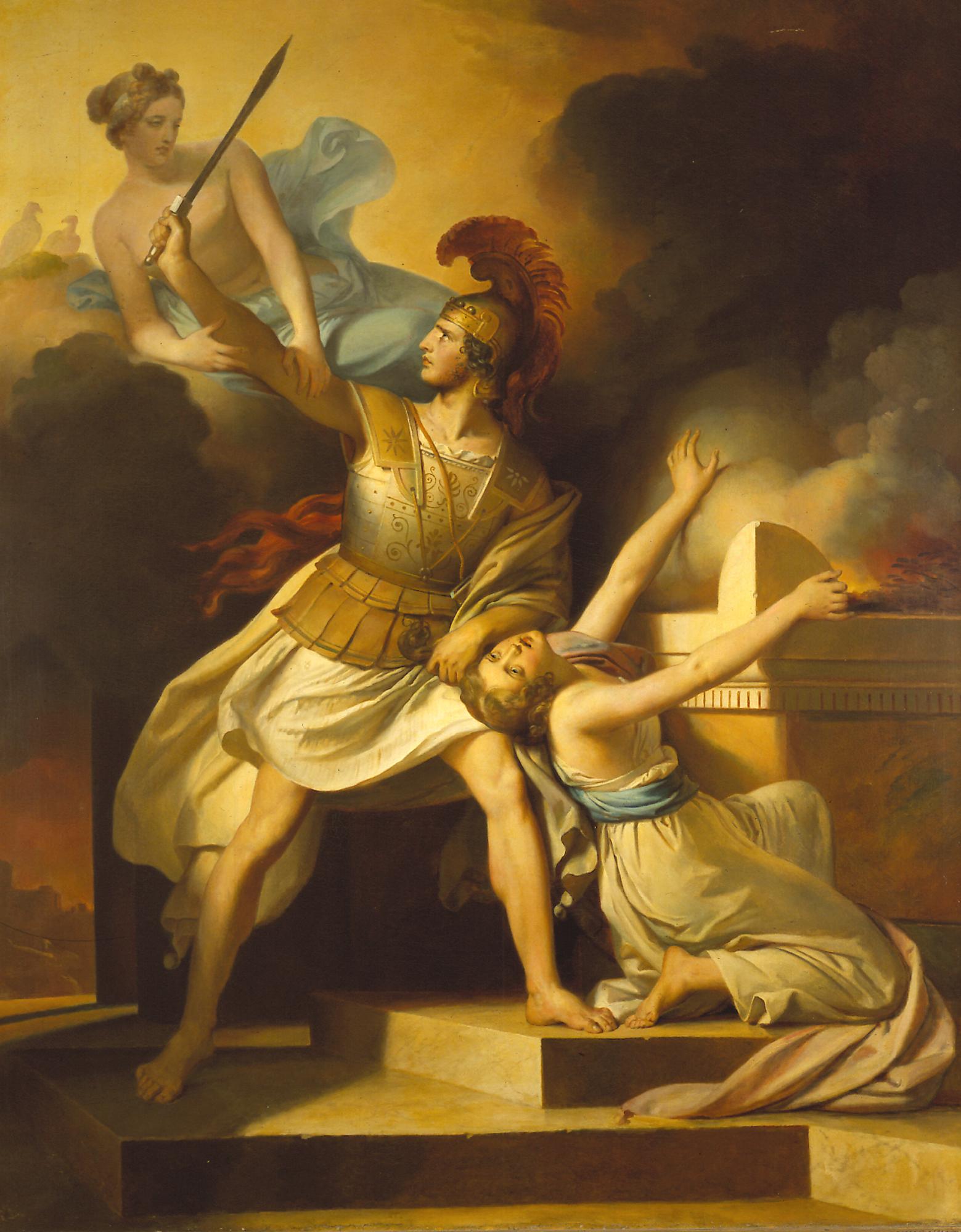 Alexandre-Évariste Fragonard - Vénus apparait à Enée et l'empêche d'immoler Hélène © Musée de Valence, photo Adam Repska
