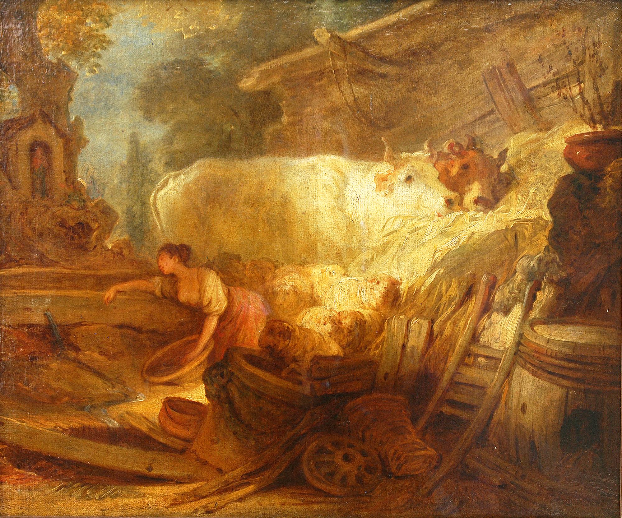 Jean-Honoré Fragonard - L'Etable © Musée de Valence, photo Musée de Valence