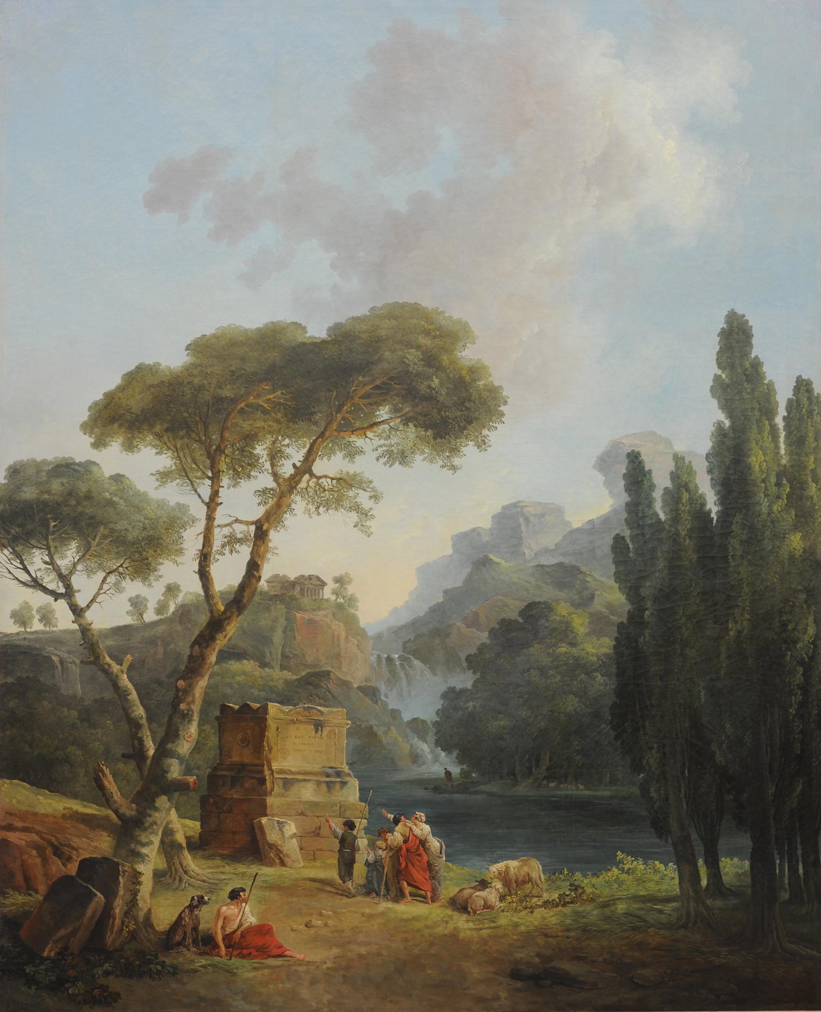 Hubert Robert - Les bergers d'Arcadie © Musée de Valence, photo Éric Caillet