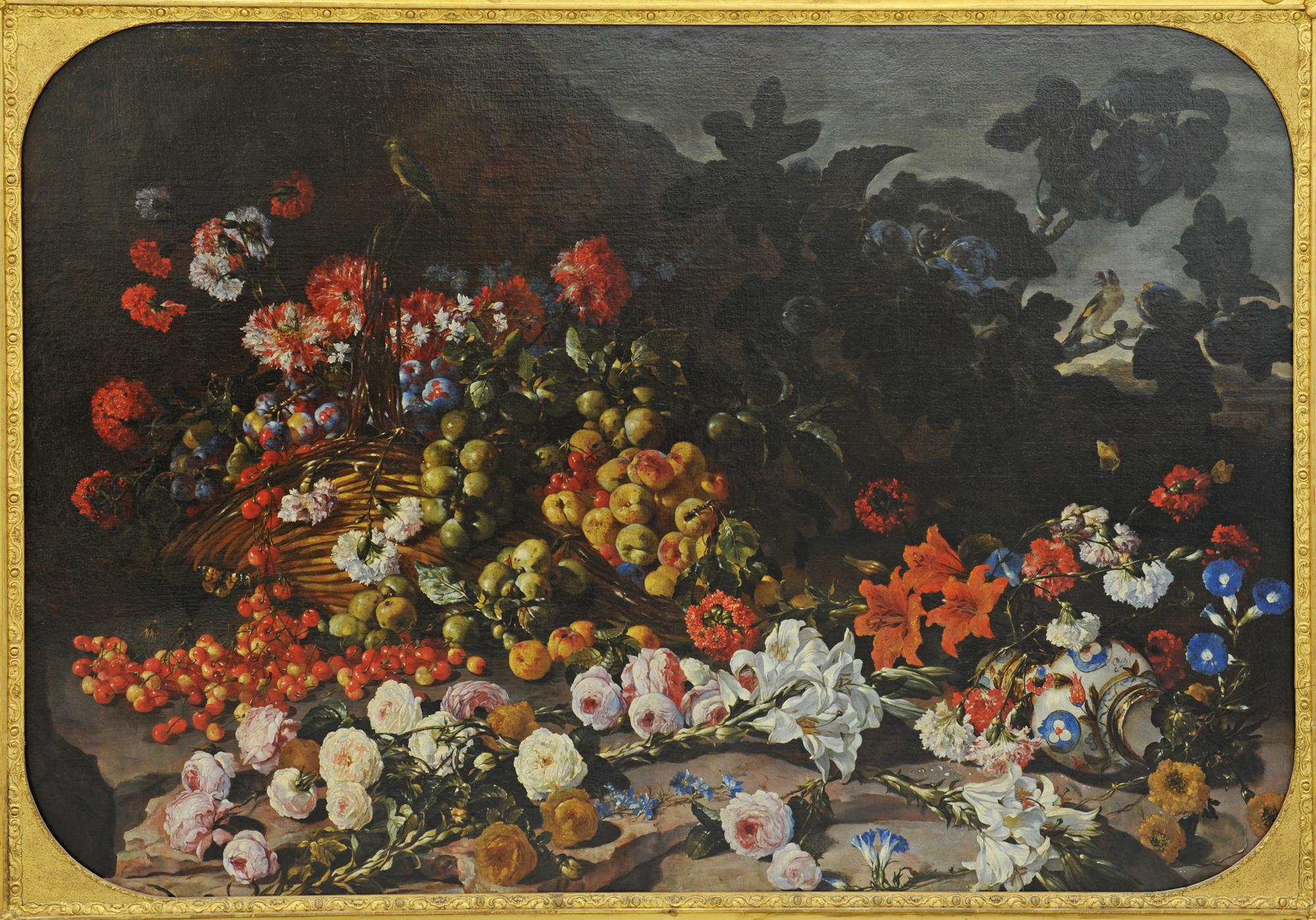 Paolo Porpora - Fleurs et fruits ©Musée de Valence, photo Éric Caillet