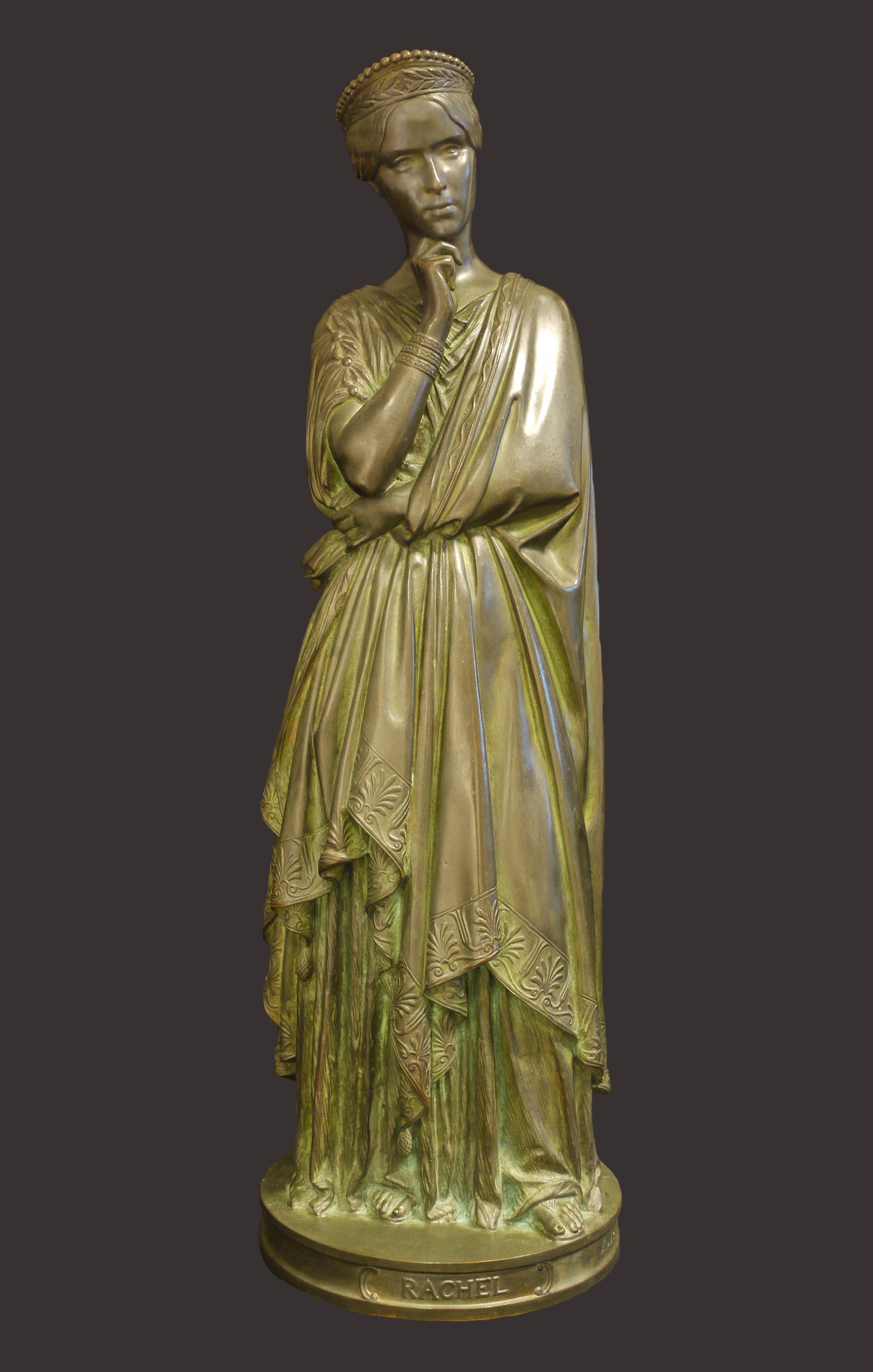 Jean-Auguste Barre, Statuette de Rachel dans le rôle de Phèdre, 1847 © Musée de Valence, photographie Béatrice Roussel