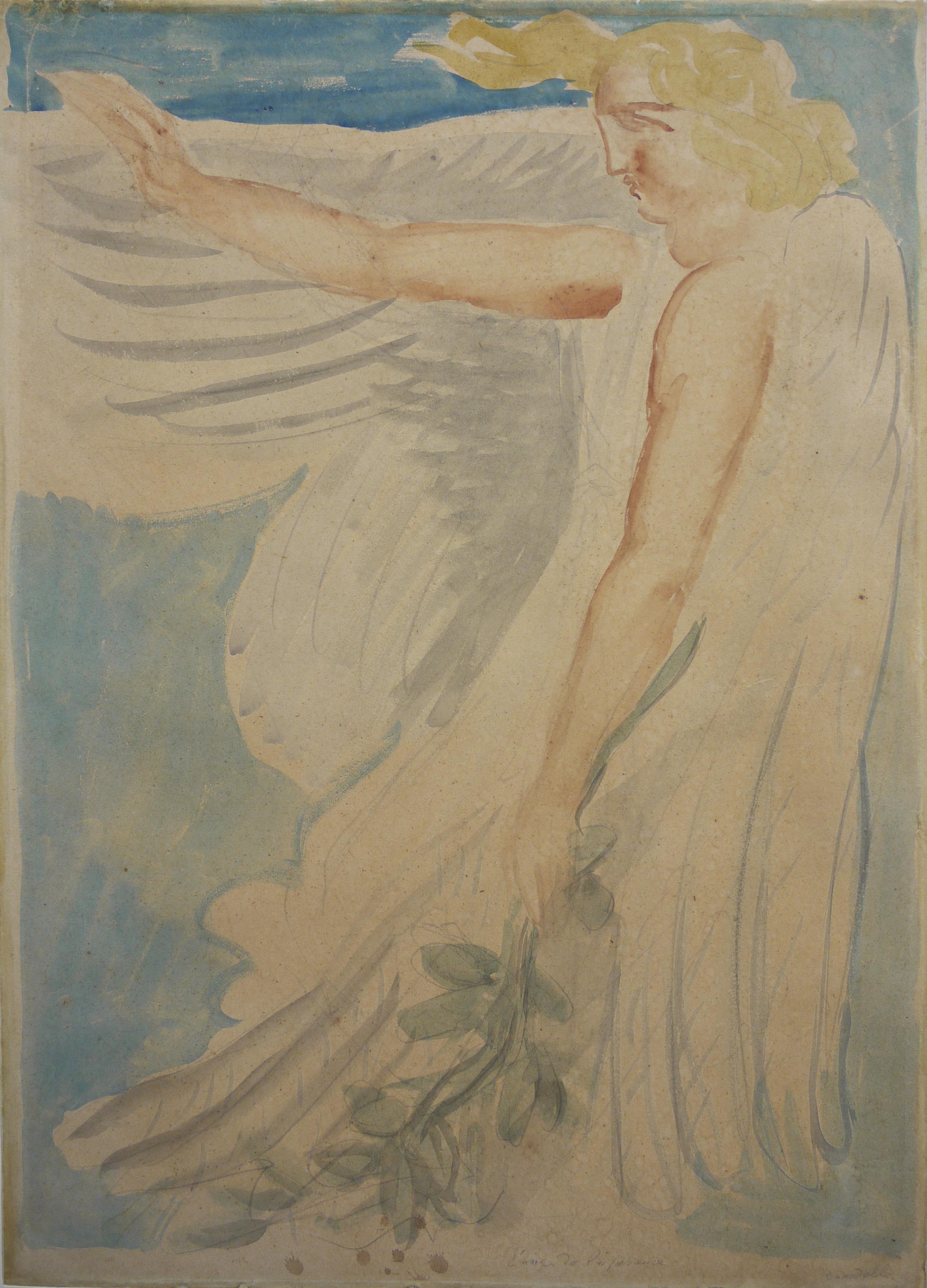 Antoine Bourdelle, L'Ange de l'Espérance, vers 1915-1918 © Musée de Valence, photographie Béatrice Roussel