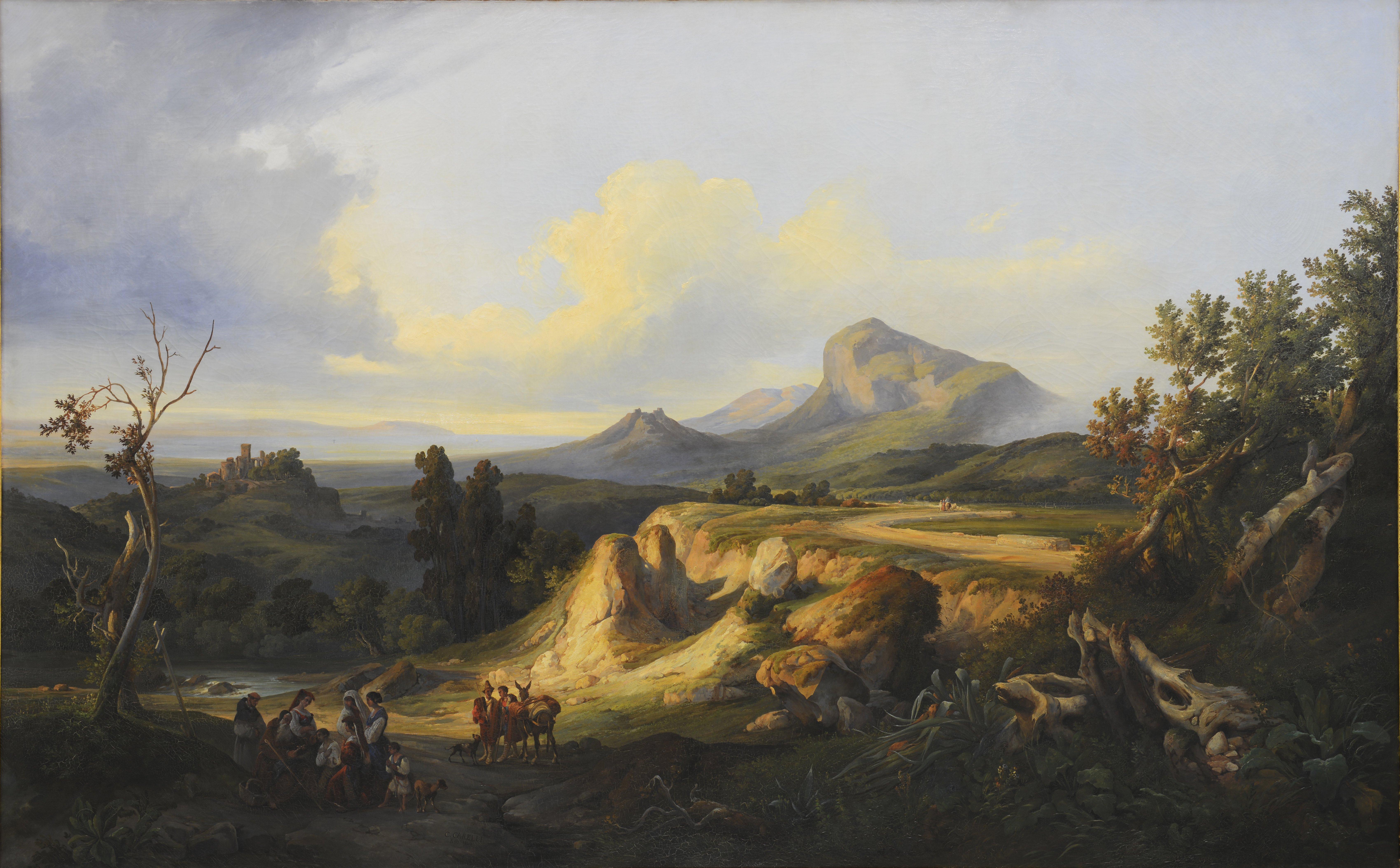 Consalvo Carelli, Paysage d'Italie, 1843 © Musée de Valence, photographie Eric Caillet