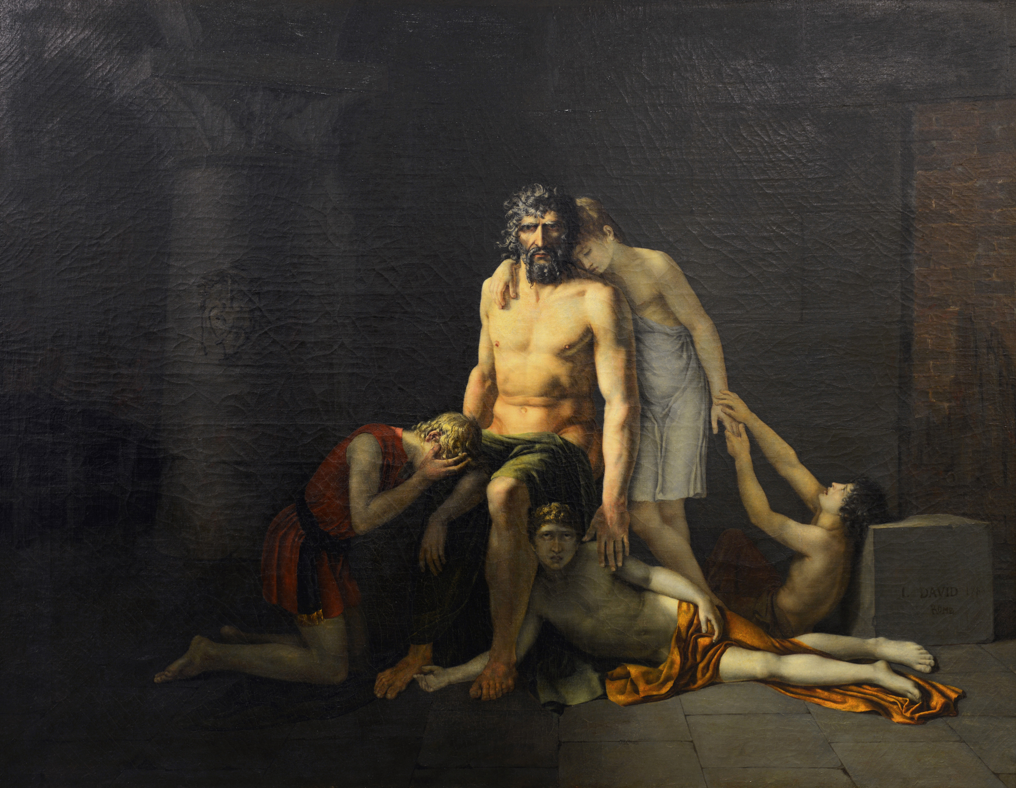 Fortuné Dufau - La mort d'Ugolin © Musée de Valence, photo Eric Caillet