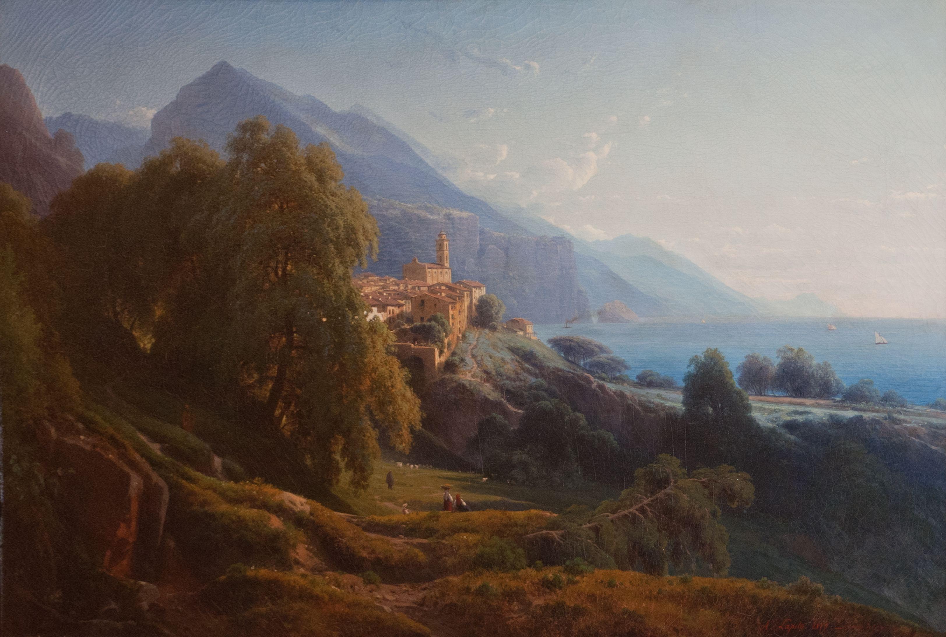 Louis-Auguste Lapito, La Corniche de Gênes, 1857 © Musée de Valence, photographie Béatrice Roussel