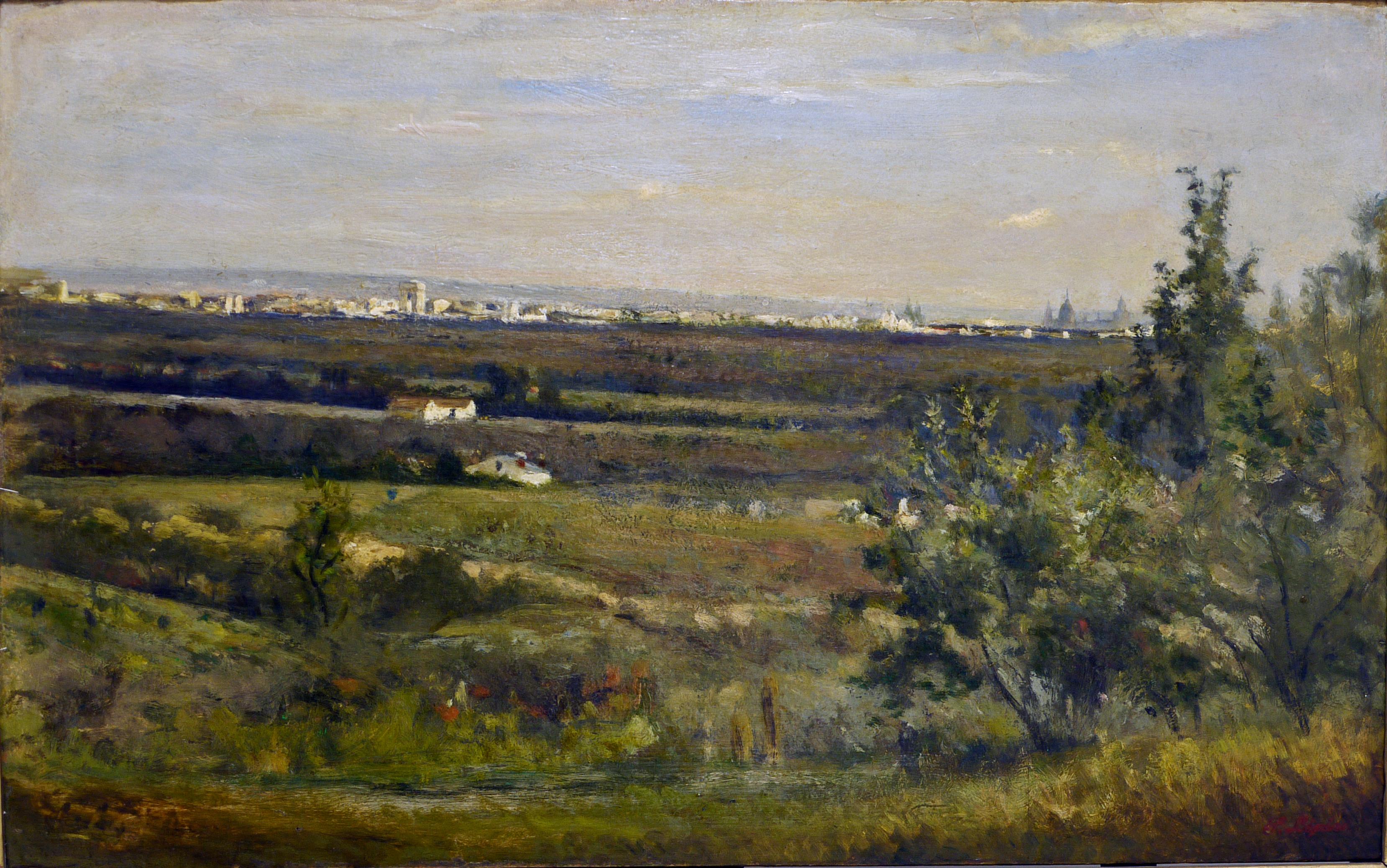 Stanislas Lépine, Vue panoramique de Paris, vers 1865 © Musée de Valence, photographie Béatrice Roussel