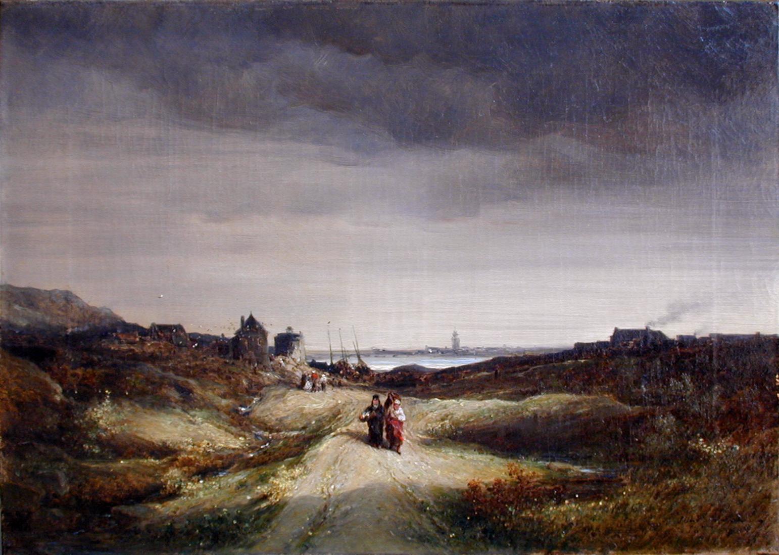 Jules Noël, Paysage maritime en Bretagne, 1877 © Musée de Valence, photographie Béatrice Roussel