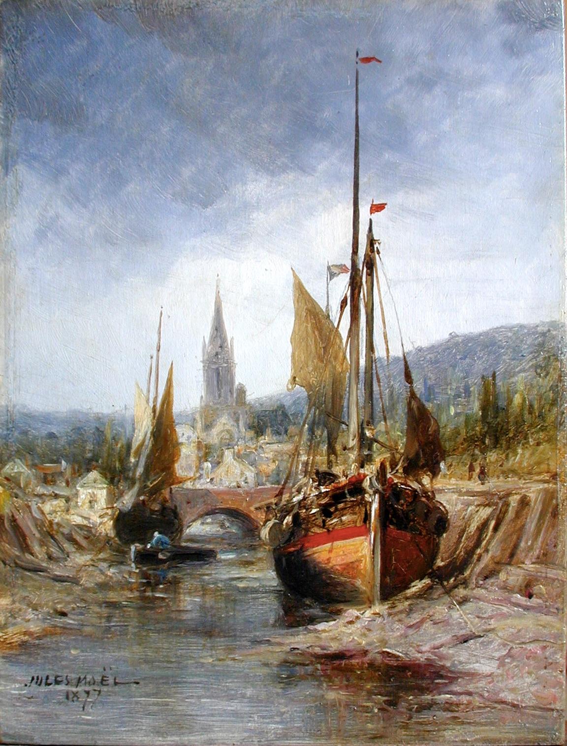 Jules Noêl, Bord de Rivière, 1877 © Musée de Valence, photographie Béatrice Roussel