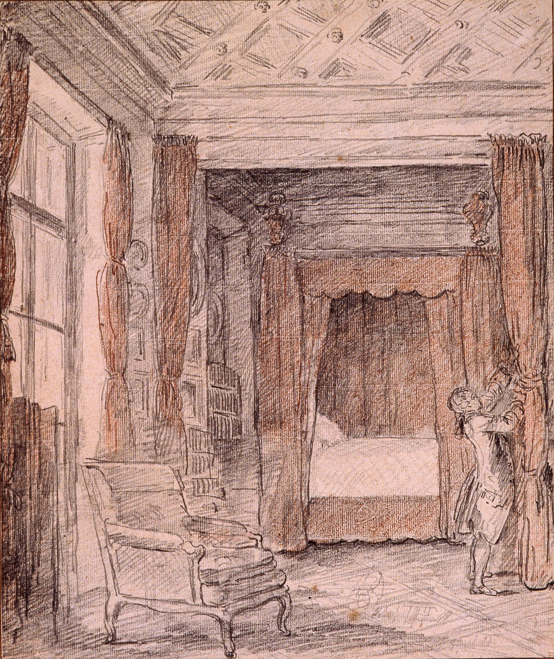 Hubert Robert, L'Appartement de Madame Geoffrin, vers 1771-1772 © Musée de Valence