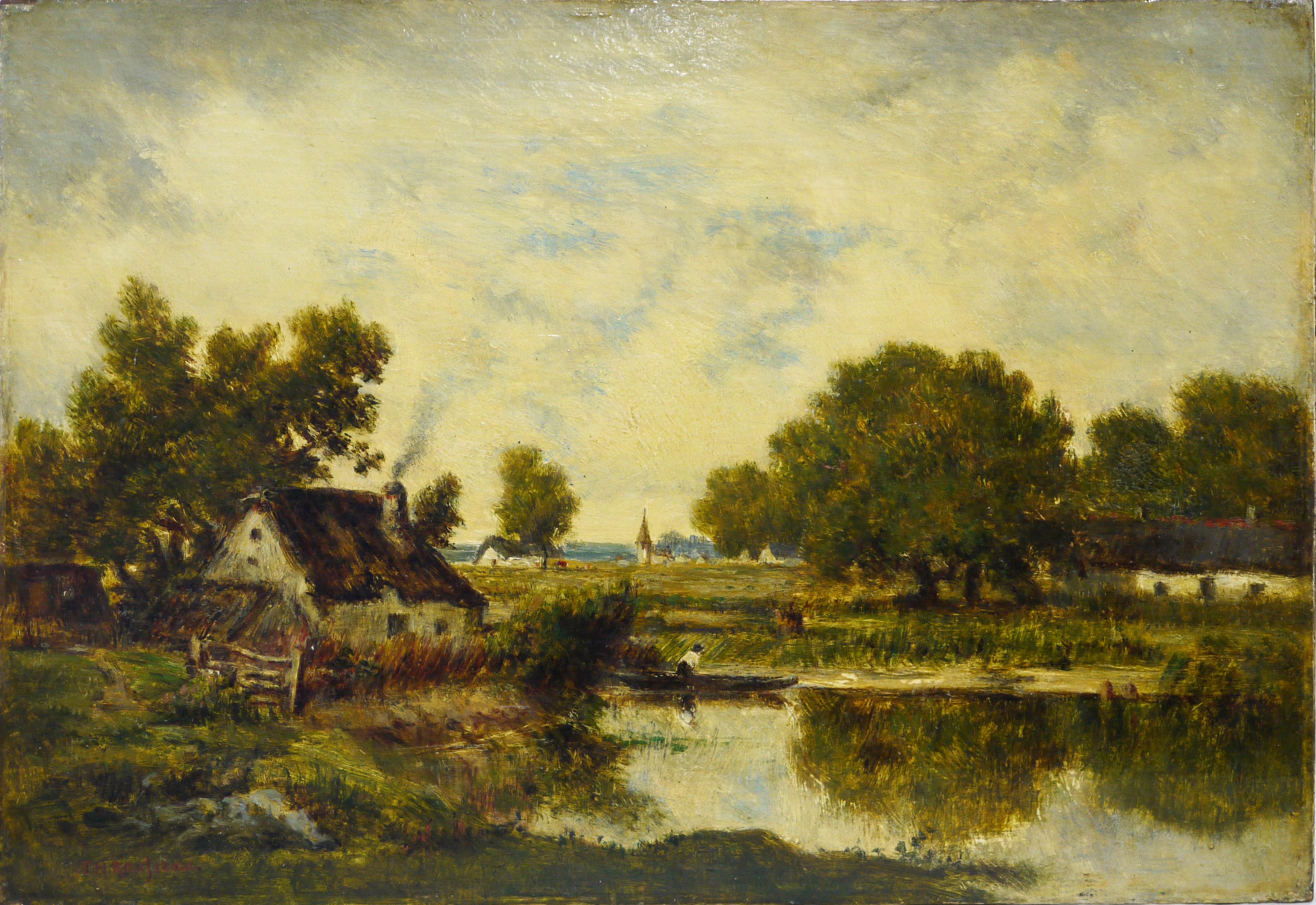 Théodore Rousseau, Chaumière près de l'étang, 19ème s. © Musée de Valence, photographie Béatrice Roussel