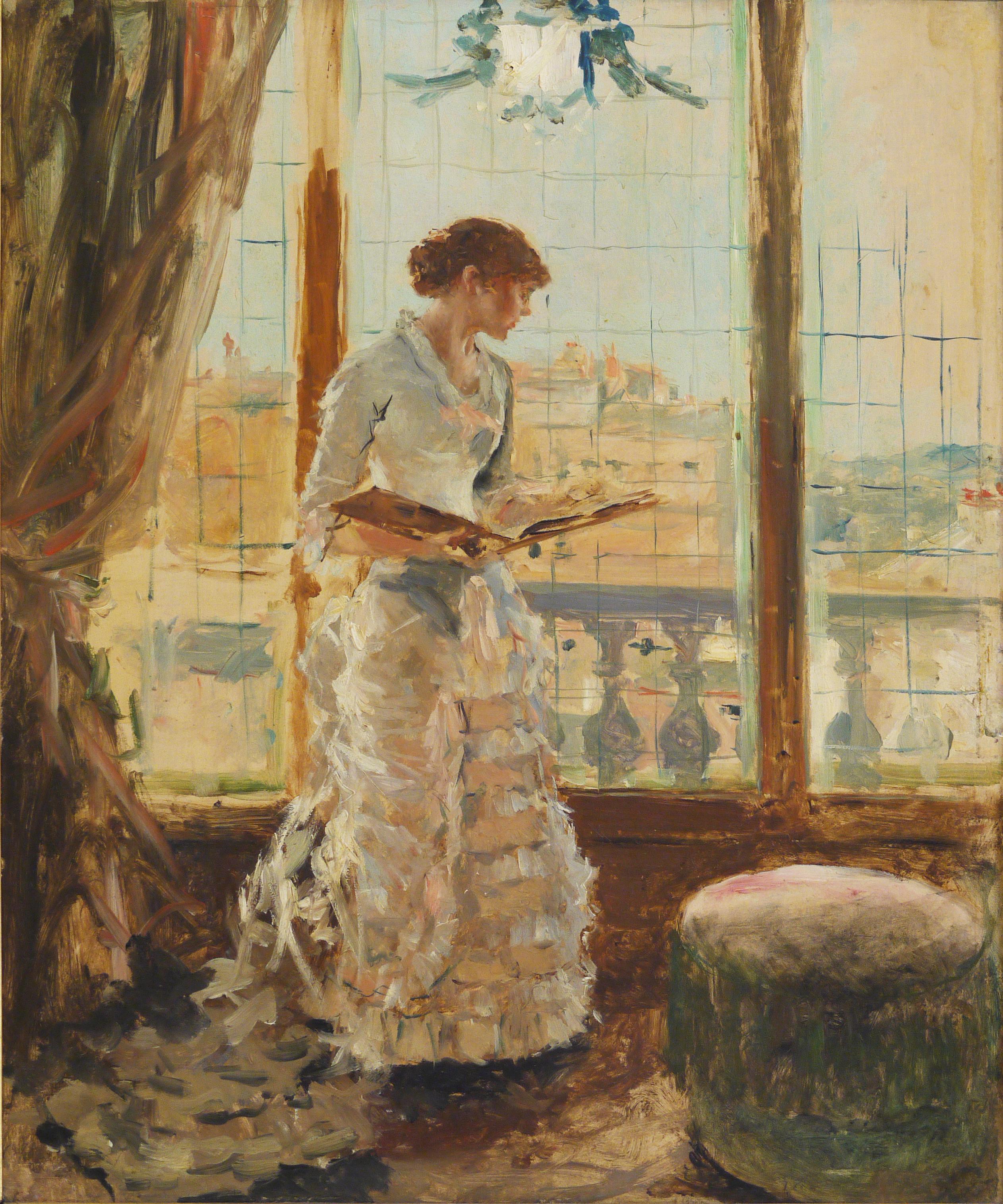 Alfred Stevens, Étude de femme, 19ème s. © Musée de Valence, photographie Béatrice Roussel