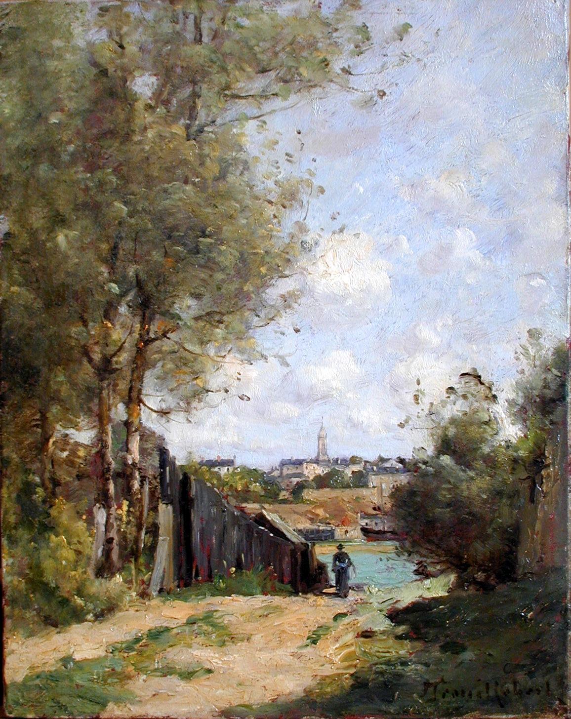 Désiré Trouillebert, La Loire à Trentemoult, vers 1895 © Musée de Valence, photographie Béatrice Roussel