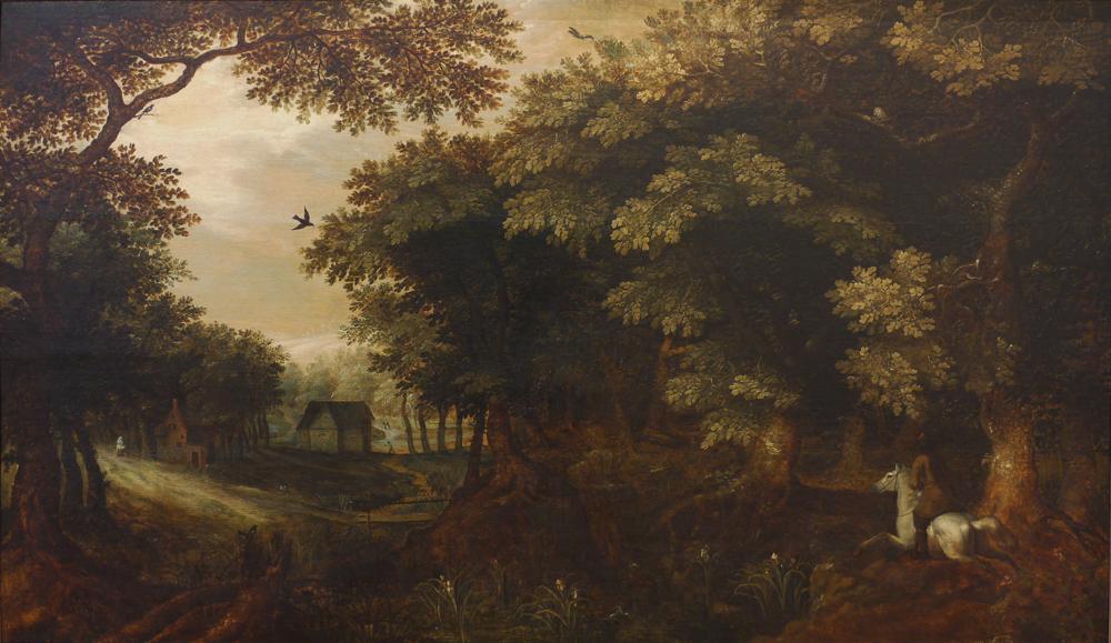 Gillis van Coninxloo - Cavalier dans la forêt - © Musée de Valence, photo Béatrice Roussel
